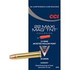 MAXI-MAG TNT AMMO 22 MAGNUM (WMR) 30GR JACKETED HOLLOW POINT