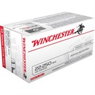 USA WHITE BOX AMMO 22-250 REMINGTON 45GR JHP