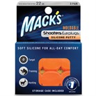 MACK'S ORANGE MOLDABLE SILICONE EAR PLUGS