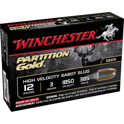 Partition Gold Shotgun Ammunition - Winchester Partition Gold 12ga 3   385gr Sabot Slug