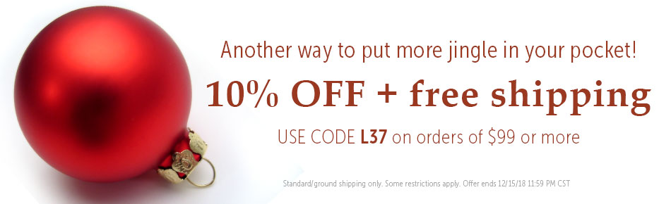 10% off and Free shipping over $99