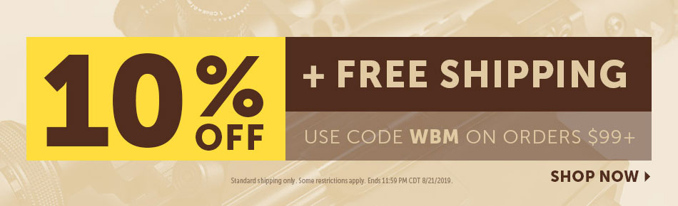 10% off and Free Shipping Today!