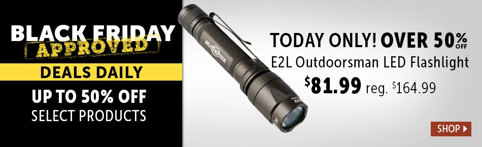 Black Friday Approved Outdoorsman LED Flashlight