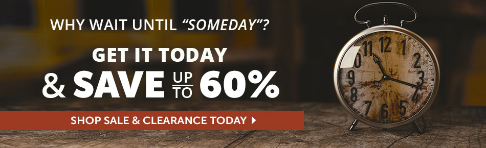 Save up to 60% Today on Sale and Clearance