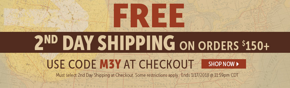 Free 2nd day shipping