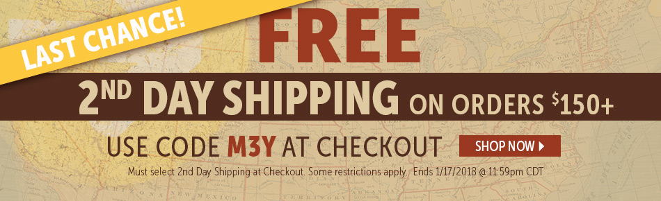 Last Chance for Free 2nd Day Shipping