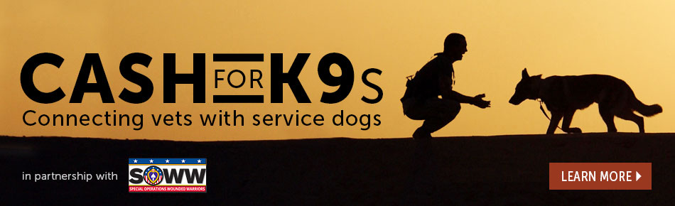 Cash for K9s - Connecting Vets with Service Dogs