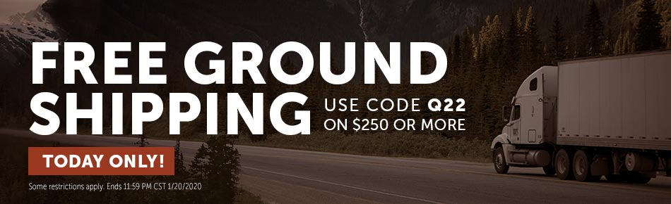 Free Ground Shipping on orders over $250