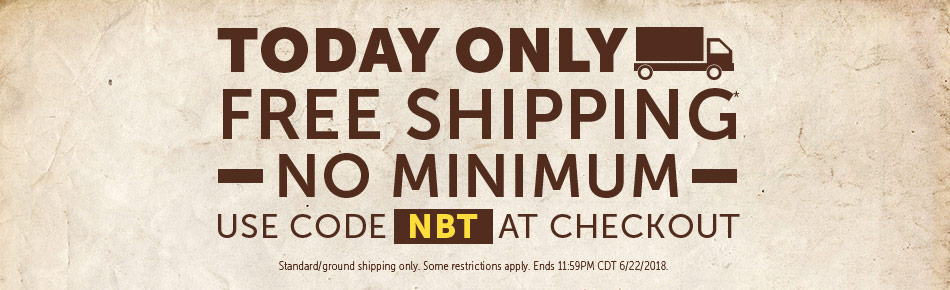 Free Shipping No Minimum Today Only
