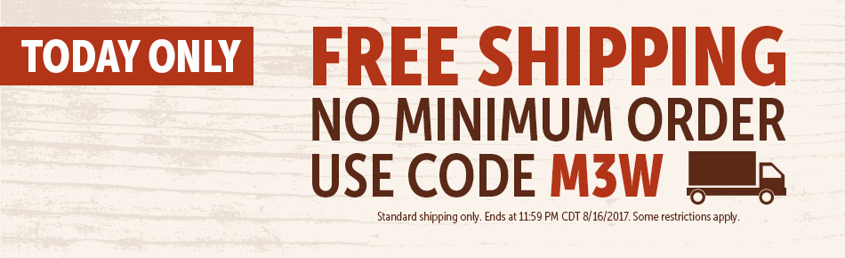 Today Only! Free Shipping No Minimum!