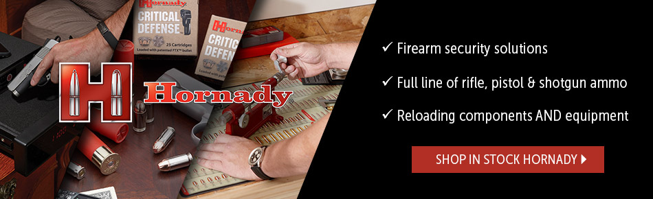 Hornady, shop in stock items.