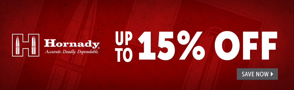 Up to 15% off Hornady