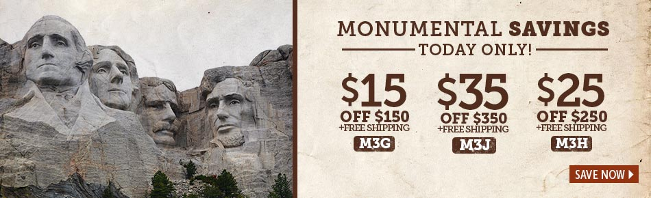 Monumental Savings Today Only!
