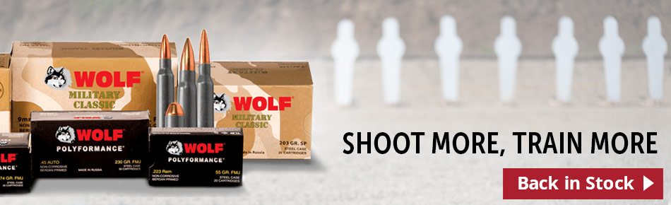 Back In Stock - Wolf Ammo