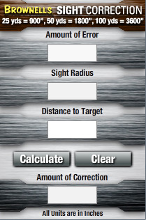 Sight Correction Calculator