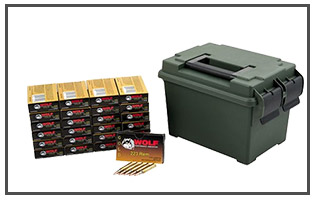 Wolf Gold 223 REM FMJ Ammo Can
