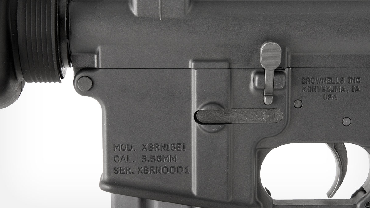 brownells-retro-rifle-line/xbrn16e1 Magazine Release Detail