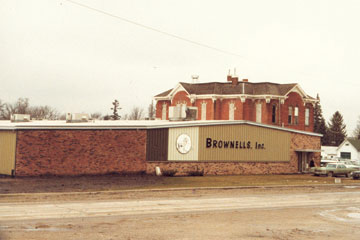 The old Brownells building in Montezuma, IA
