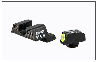 Trijicon - Tritium Night Set Set for Glock, Yellow Front Outline