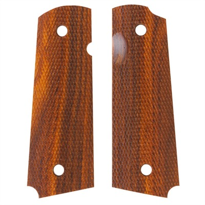 1911 Auto Square Bottom Grips Rosewood Govt Model Checkered S&a Grip : Handgun Parts by Ahrends for Gun & Rifle