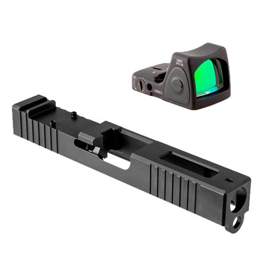 Brownells Glock 9mm Gen3 Windowed Slide W/Rmr Rm06 Red Dot - Gen3 Glock 17 Windowed Slide W/Rmr Rm06