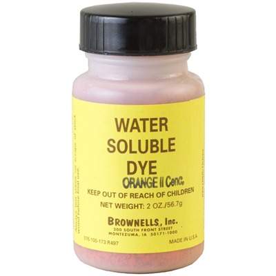 Water-soluble Dye Water Soluble Dye, Scarlet : Gunsmith Tools & Supplies by Brownells for Gun & Rifle