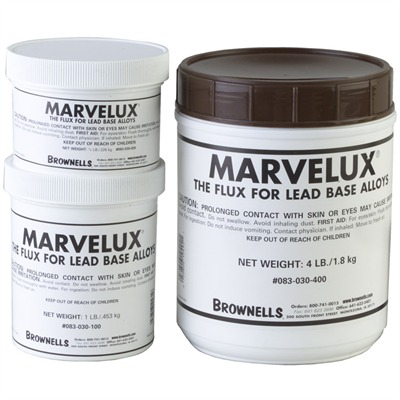 Marvelux~ Bullet Casting Flux Marvelux Flux, 4-lb. Can : Shooting Accessories by Brownells for Gun & Rifle