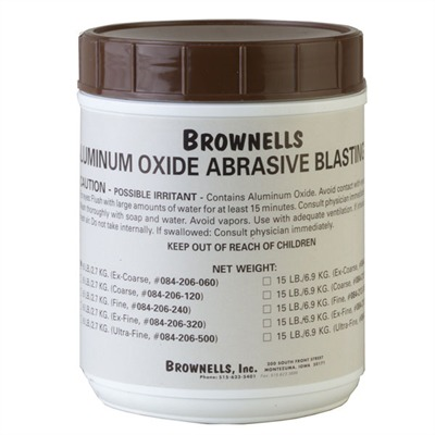 Aluminum Oxide Abrasive Blasting Grit 15# Coarse Alum Oxide Blasting Grit : Gunsmith Tools & Supplies by Brownells for Gun & Rifle