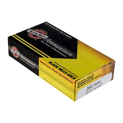 Black Hills Gold Ammo 260 Remington 140gr Eld M 260 Remington 140gr Eld M 100 Case