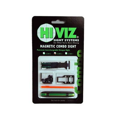 Hiviz Shotgun Sight Sets - C200-2 Front/Rear Combo (Ts-2002 Rear/M200 Front)