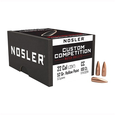 Nosler Custom Competition Bullets - Custom Competition Bullets .30 Cal (.308) 220gr 100/Box