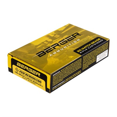 Berger Bullets Match Grade Target 260 Remington Ammo - 260 Remington 140gr Hybrid Boat Tail 200/Case