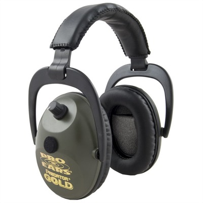 Predator Gold? Series Electronic Muffs Gs-p300 Predator Gold Nrr 26 Black : Shooting Accessories by Pro Ears for Gun & Rifle