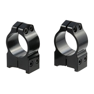 "Maxima Ruger~-base Permanent Rings 2r7m 1"" High Matte Maxima Ruger 77 Rgs : Optics & Mounting by Warne Mfg. Company for Gun & Rifle"