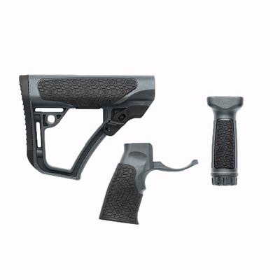 Ar-15 Stock Set W/vertical & Foregrip Collapsible Polymer Daniel Defense.