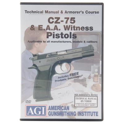 CZ-75 & EAA Witness Technical Manual & Armorer's Course DVD