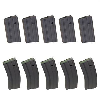 Load a smooth-feeding Brownells 30-round AR-15/M16 magazine to maximum capacity and fire all the rounds--no jams, no misfeeds, no hangups. All components are ...