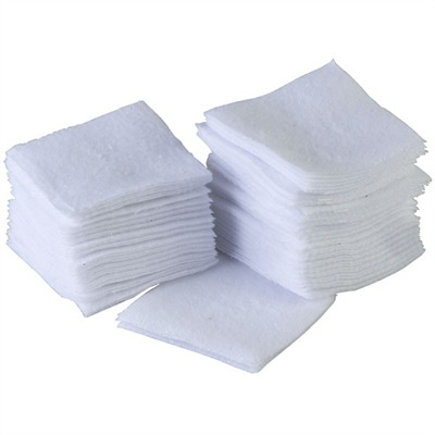 100 Paks 100% Cotton Flannel Cleaning Patches Brownells