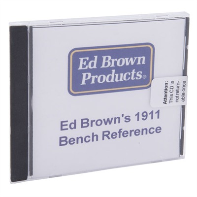 1911 Bench Reference Cd-Rom Ed Brown.