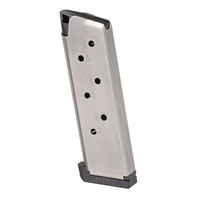Extra-thick, stainless steel magazine body is formed to tight tolerances with a smooth-welded seam that's carefully polished to eliminate any rough spots ...