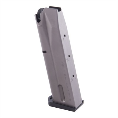 Factory, double stack 9mm magazines is ultra-reliable in combat or competition. High-tech manufacturing techniques allow seamless construction for snag-free follower movement and ...