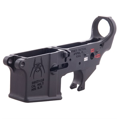 Ar-15 Stripped Lower Receiver With Color Fill Spikes Tactical.