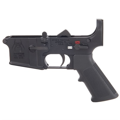 Ar-15 Complete Lower Receiver Less Stock Spikes Tactical.