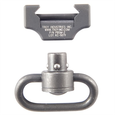 Aluminum mount clamps to any Picatinny rail to provide a front sling attachment point exactly where you need it. Non-rotating quick-detach swivel has ...