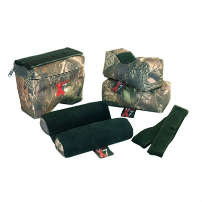 4 bag set includes: 1 vise grip bag, 1 rectangular bag, 1 owl/rabbit ear bag, 1 zippered sleeve hi-rest ...