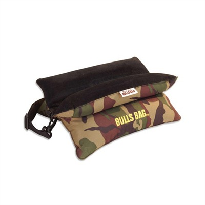 Woodland camo with black suede top  15 inch long bench model makes bench shooting comfortable and ...