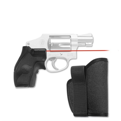 S & w/ J-Frame Round Butt Lasergrips with Iwb Holster