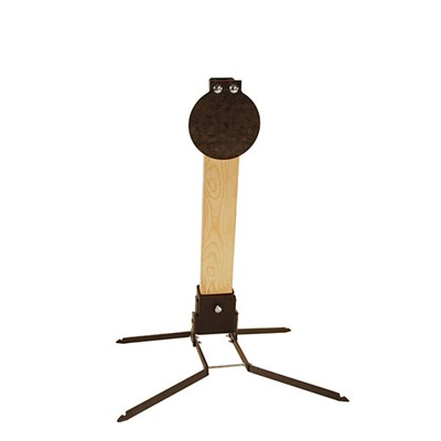 Steel Target Stand With 7 Ar500 Metal Plate Challenge Targets.