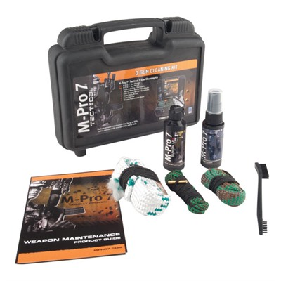 M-Pro 7 Tactical 3 Gun Cleaning Kit Bushnell.