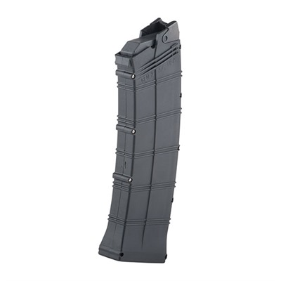 "US made High Capacity magazine for the Saiga-12 shotgun. This counts as 3 US made parts and is marked ""USA"" ..."
